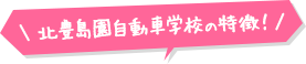 北豊島園自動車学校の特徴!